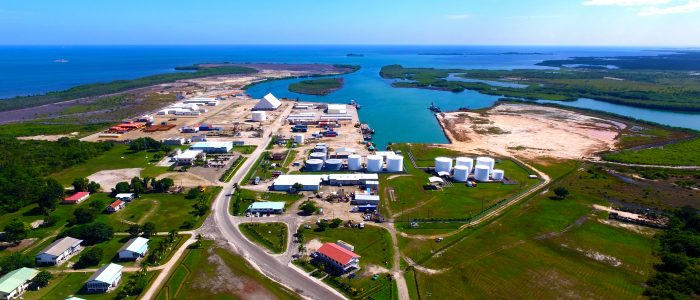 Sky View of the Port of Big Creek