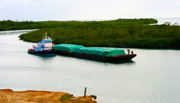Transporting Fertilizer at the Port of Big Creek
